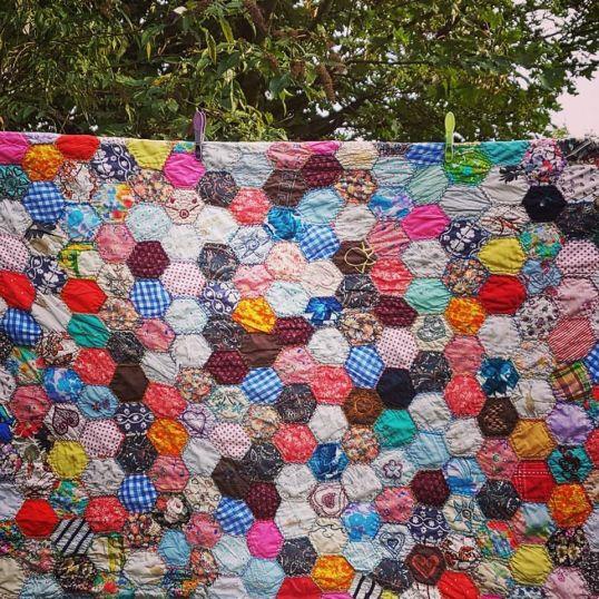 My first patchwork quilt, 1991.
